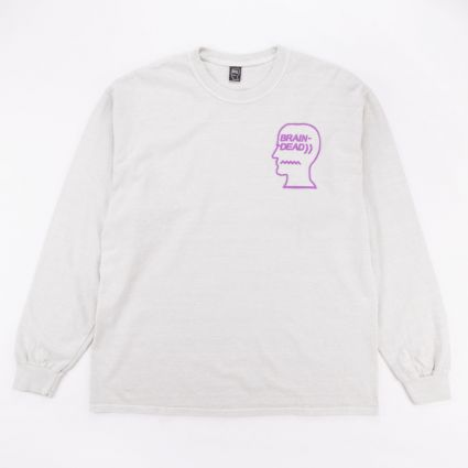 Brain Dead Vibration Long Sleeve Tee Cement1