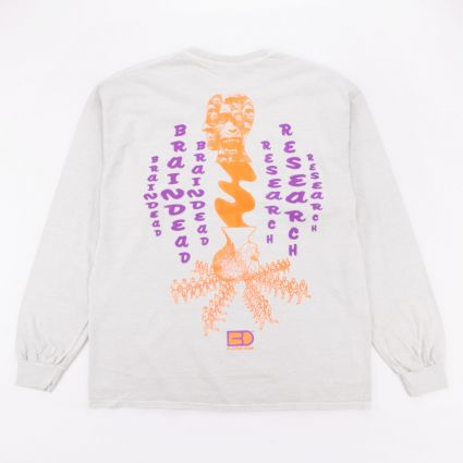 Brain Dead Vibration Long Sleeve T-Shirt Cement