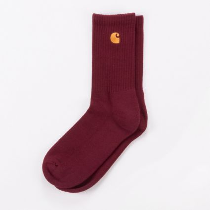Carhartt WIP Chase Socks Bordeaux/Gold1