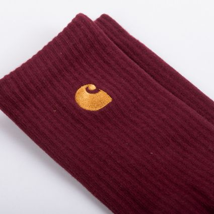 Carhartt WIP Chase Socks Bordeaux/Gold
