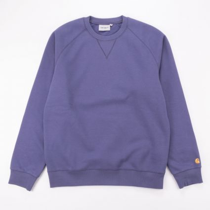 Carhartt WIP Chase Sweatshirt Cold Viola/Gold1