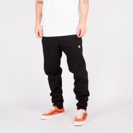 Carhartt WIP Chase Sweat Pant Black/Gold