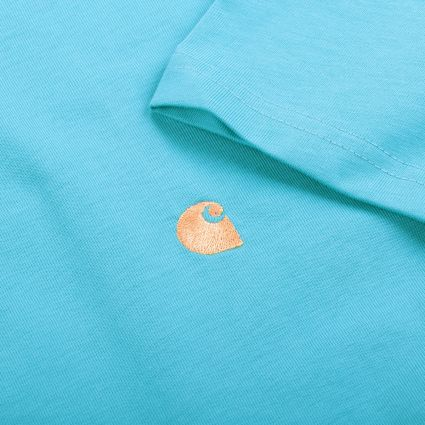 Carhartt WIP S/S Chase T-Shirt Frosted Turquoise/Gold