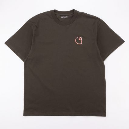 Carhartt WIP S/S Commission Logo T-Shirt Cypress1