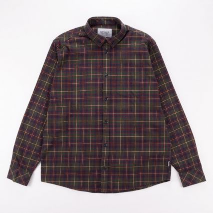 Carhartt l_s huffman shirt huffman check_bottle green1