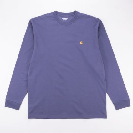 Carhartt WIP L/S Chase T-Shirt Cold Viola/Gold1