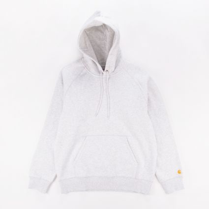 Carhartt WIP Chase Hoodie Ash Heather/Gold1