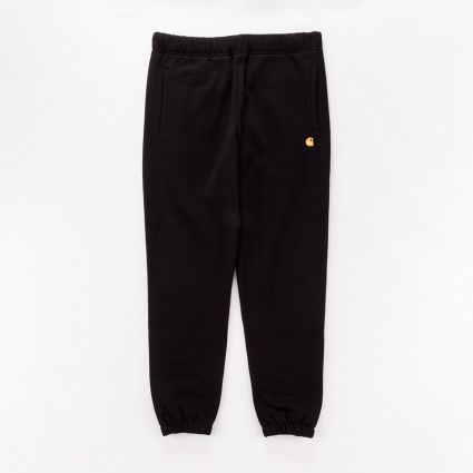 Carhartt WIP Chase Sweat Pant Black/Gold1