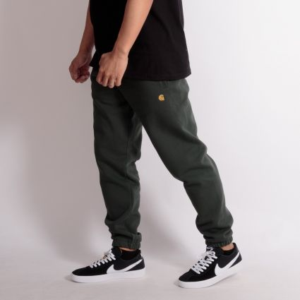 Carhartt WIP Chase Sweat Pant Dark Teal/Gold