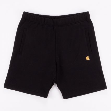 Carhartt WIP Chase Sweat Short Black/Gold1