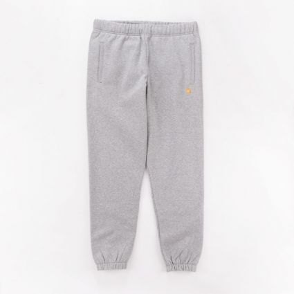 Carhartt WIP Chase Sweatpant Grey Heather/Gold1