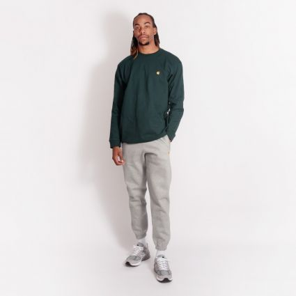 Carhartt WIP Chase Sweatpant Grey Heather/Gold
