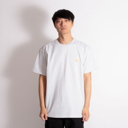 Carhartt WIP Chase T-Shirt Ash Heather/Gold