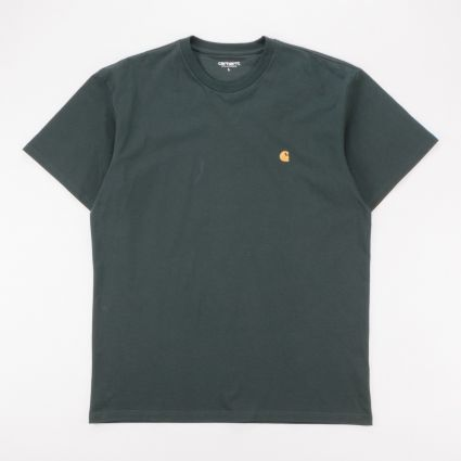 Carhartt WIP Chase T-Shirt Dark Teal/Gold1