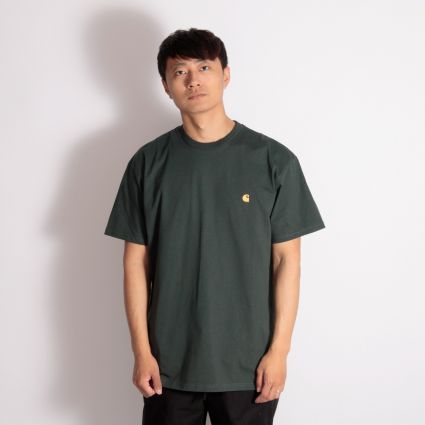 Carhartt WIP Chase T-Shirt Dark Teal/Gold