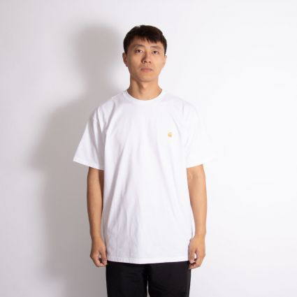 Carhartt WIP Chase T-Shirt White/Gold