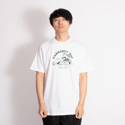 Carhartt WIP Flat Tire T-Shirt White/Treehouse
