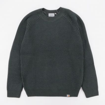 Carhartt WIP Forth Sweater Dark Teal1