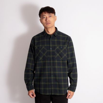 Carhartt WIP L/S Darren Check Shirt Bottle Green