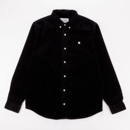 Carhartt WIP Madison Cord Shirt Black/Wax1