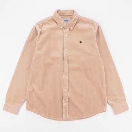 Carhartt WIP Madison Cord Shirt Wall/Black1
