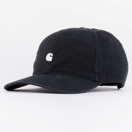 Carhartt WIP Madison Logo Cap Black/White1