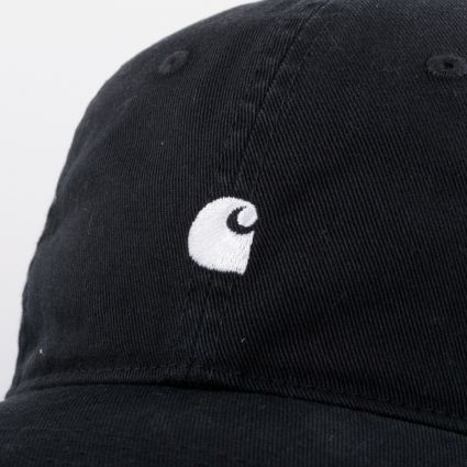Carhartt WIP Madison Logo Cap Black/White
