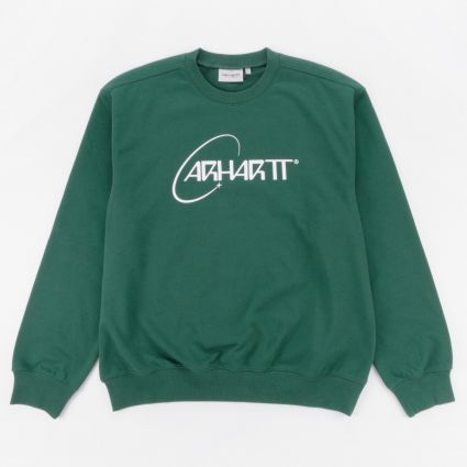 Carhartt WIP Orbit Sweatshirt Treehouse/White1