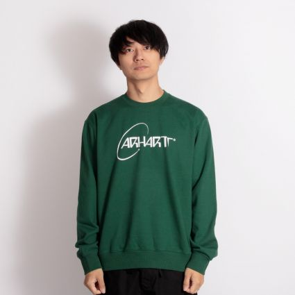 Carhartt WIP Orbit Sweatshirt Treehouse/White