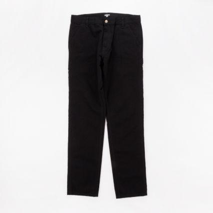 Carhartt WIP Ruck Single Knee Pant Black Rinsed1