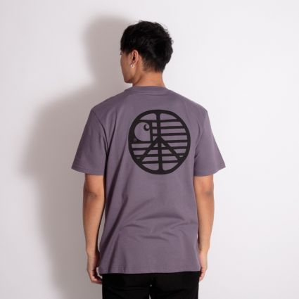 Carhartt WIP S/S Peace State T-Shirt Provence/Black