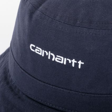 Carhartt WIP Script Bucket Hat Dark Navy/White