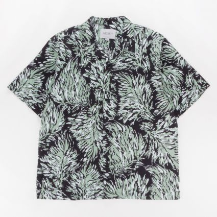 Carhartt WIP Short Sleeve Shirt Hinterland Print/Black1