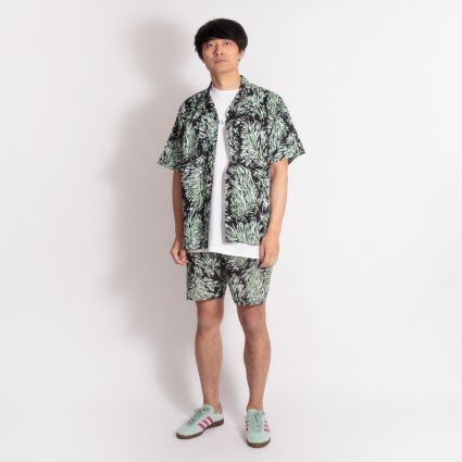 Carhartt WIP Short Sleeve Shirt Hinterland Print/Black