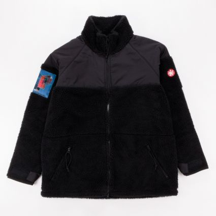 Cav Empt Boa Fleece Zip Jacket Black1