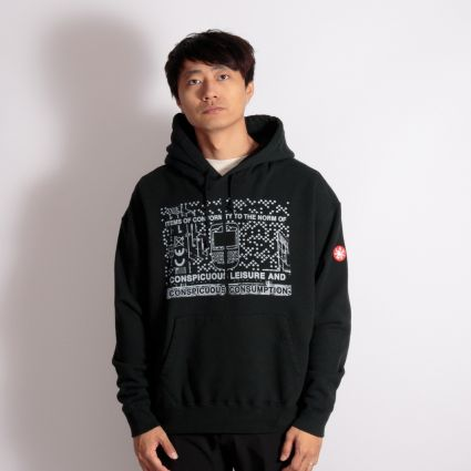 Cav Empt Consumption Heavy Hoodie Black