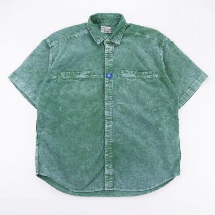 Cav Empt Cord Design Short Sleeve Shirt Green1