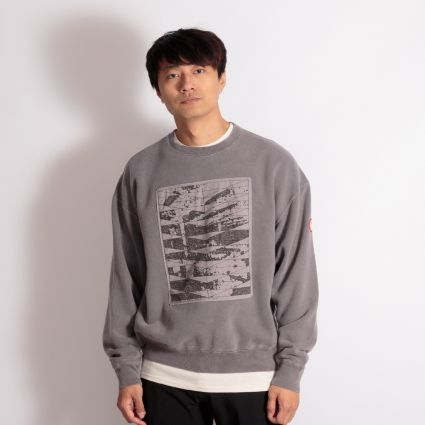 Cav Empt Overdye Conform Crew Neck Sweatshirt Brown