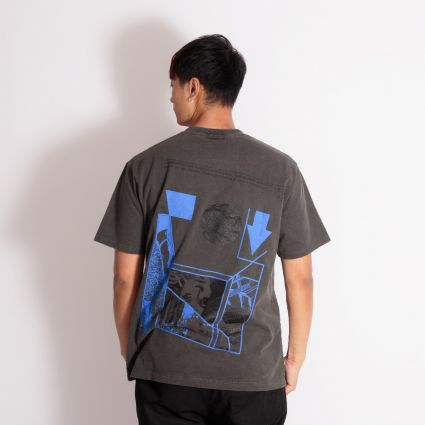 Cav Empt Overdye Irrational Knowledge T-Shirt Charcoal