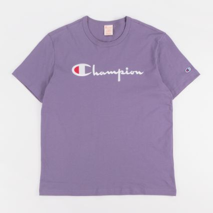 Champion Big Script Crewneck T-Shirt Mulled Grape