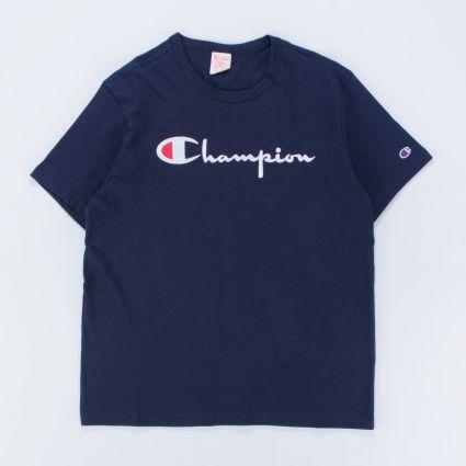 Champion Large Logo Crewneck SS T-Shirt Navy
