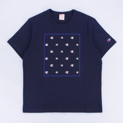 Champion Repeat C-Logo Crewneck T-Shirt Navy