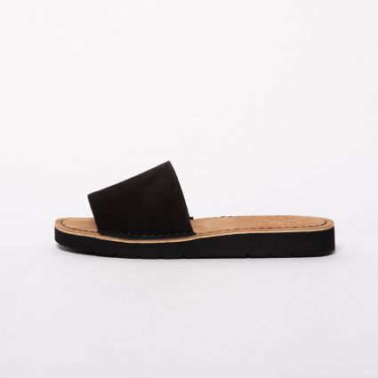 Clarks Womens Originals Lunan Slide Black Suede