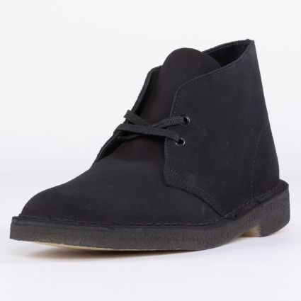 Clarks Originals Desert Boot Black Suede