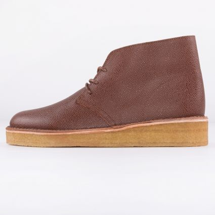 Clarks Desert Coal Tan Scotch Grain1