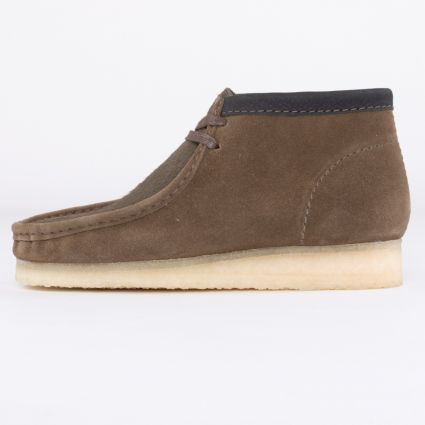 Clarks Originals Wallabee Boot Olive Interest1