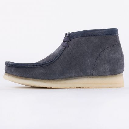 Clarks Wallabee Boot Navy Hairy Suede1