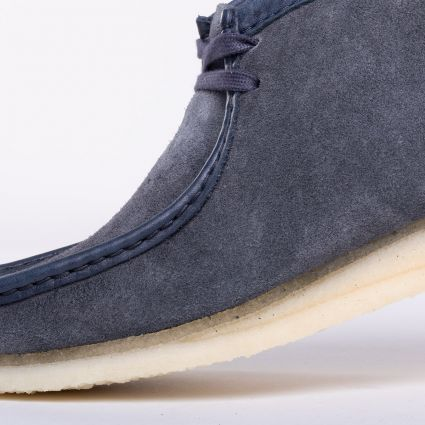 Clarks Originals Wallabee Boot Navy Hairy Suede