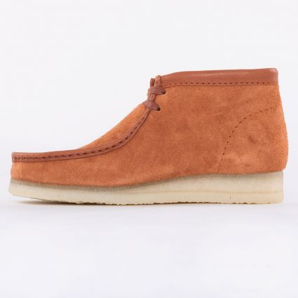 Clarks Wallabee Boot Tan Hairy Suede1