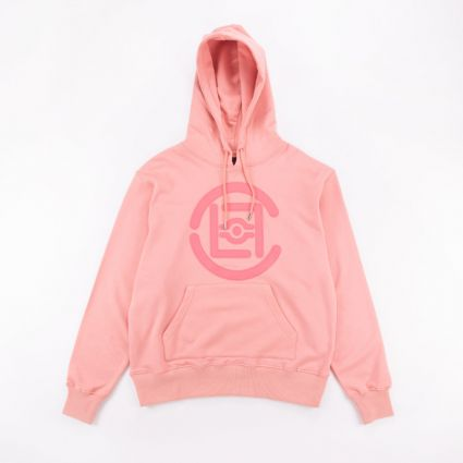 CLOT Fifth Elemental CLOT Logo Applique Pullover Hoodie Pink1